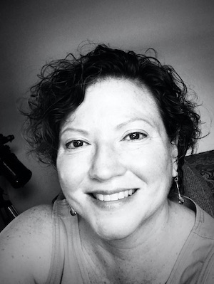 Black and White portrait of playwright Regina Velazquez